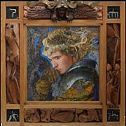 "Philip Harlequin Palmer (British b.1963) ""Riddle"" Mixed Media Painting / Sculpture"