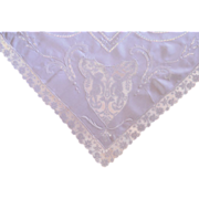 Linen and Filet Lace Putti Tablecloth