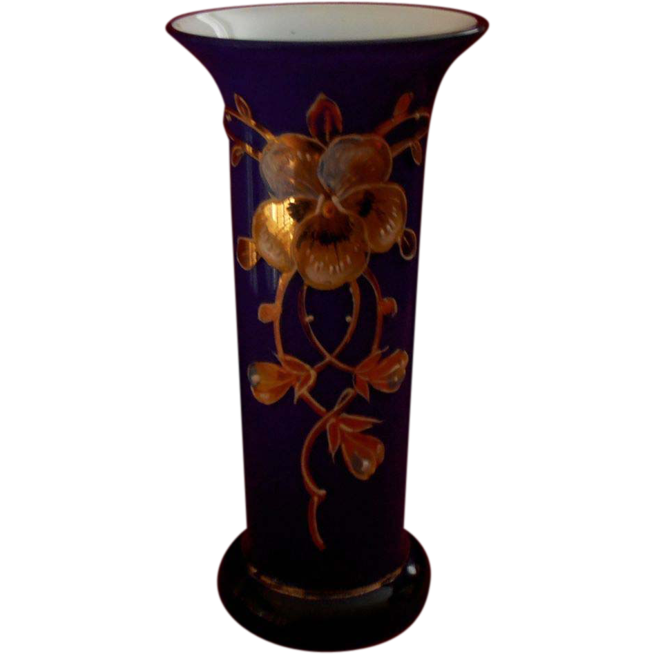 Cobalt Bohemian Vase