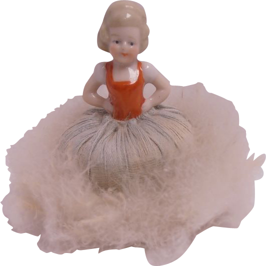 Down Powder Puff Half Doll