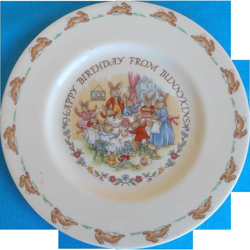 Bunnykins Birthday Plate