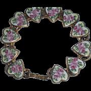 Cloisonne Hearts Bracelet, Bliss