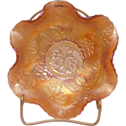 Fenton Carnival Glass Dish Water Lilly
