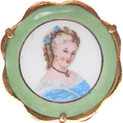 Limoges Portrait Brooch France