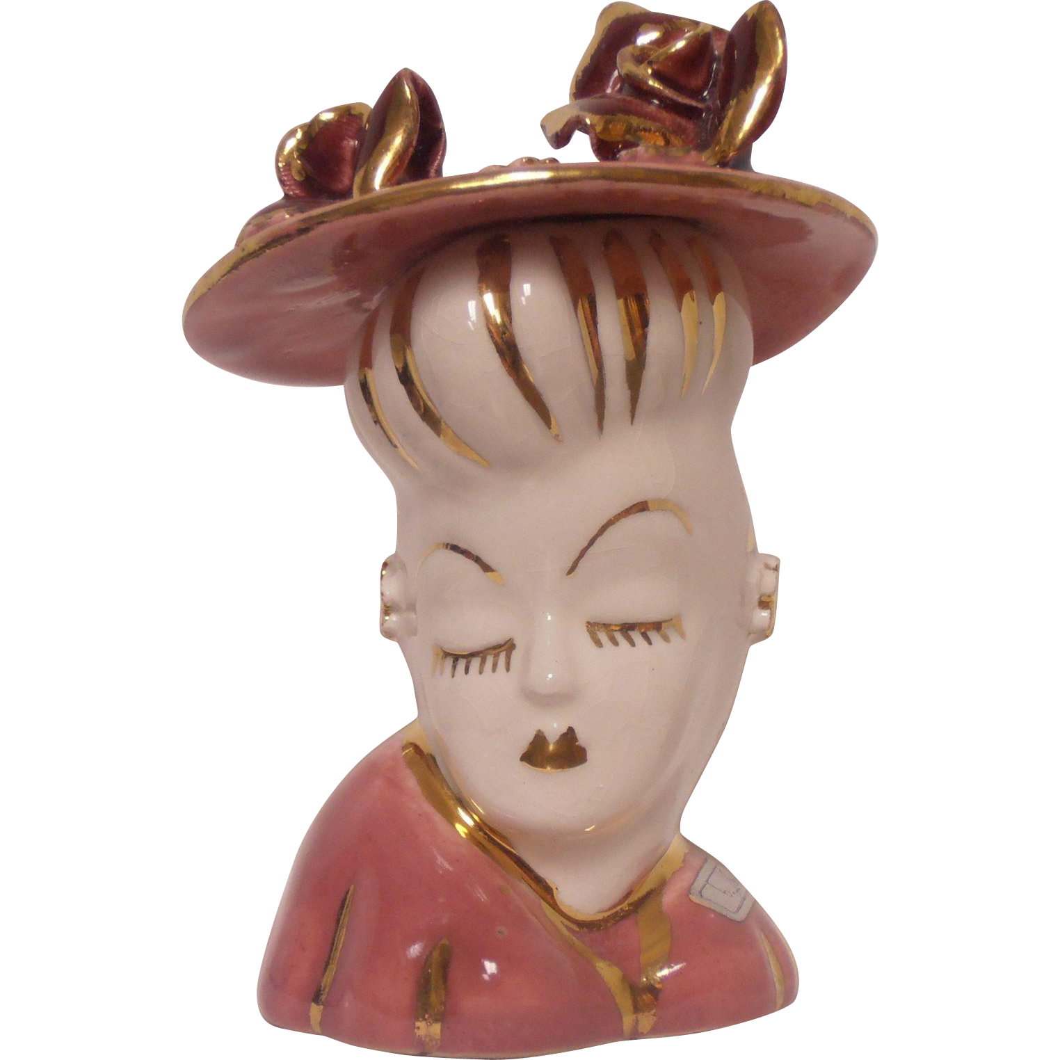Lady Head Vase Weil