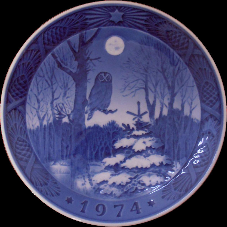 Royal Copenhagen 1974 Owl Plate