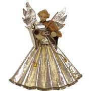 Wax Angel w Violin Christmas Decor