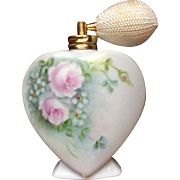 Heart Perfume Bottle Hand Painted