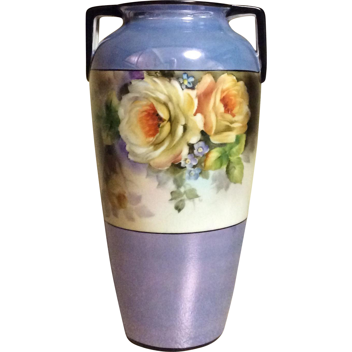Deco Era Vase Hand Painted