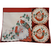 Santa Paper Napkins and  Coasters Christmas