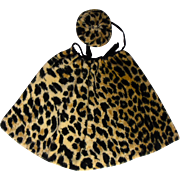 Animal Print Doll Cape and Hat
