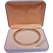 Child's Bangle Bracelet Ballou Gold Overlay