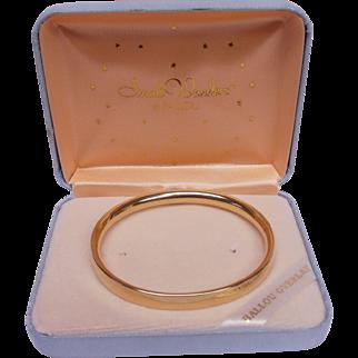 Child's Bangle Bracelet Ballou Gold Overlay