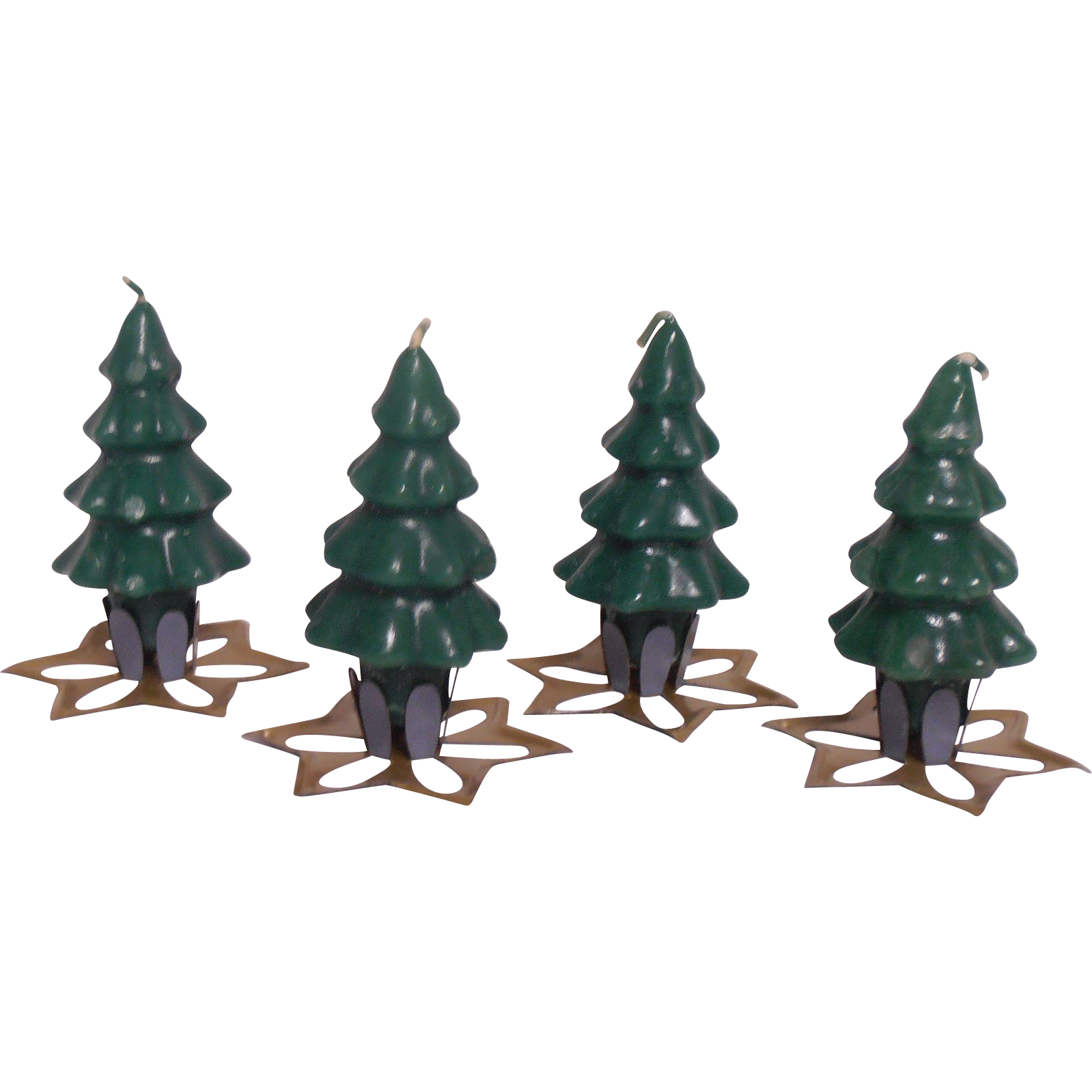 Christmas Tree Candles Tin Holders