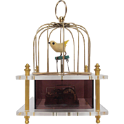 Music Box Bird in Cage Love Story 1970 Japan