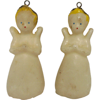 Wax Angel Christmas Ornaments