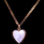 Heart Locket Necklace MOP GF