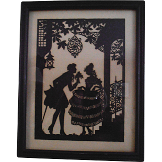 Sweethearts Paper Cutting Silhouette