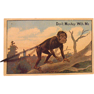 Monkey  Postcard Spring Tail Schmidt