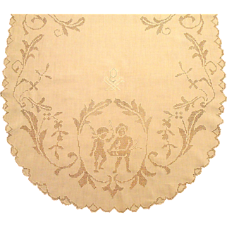 Cherub & Child Punch Mosaic Lace Runner