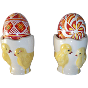 Yellow Chicks Egg Cups