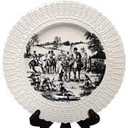 "Equestrian Plate ""The Meet"" Royal Cauldon"