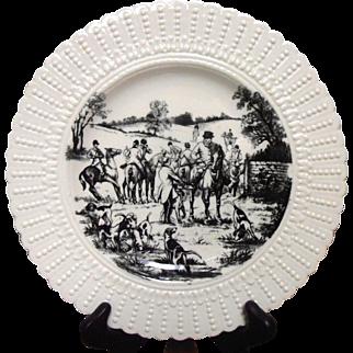 "Equestrian Plate ""The Meet"" Royal Cauldon"