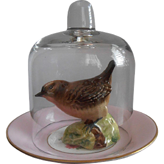 Beswick Bird Under Glass Dome