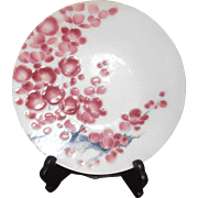 Ando Cloisonne Plate with Stand Cherry Blossom Japan