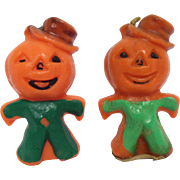 Gurley Scarecrow Jack o Lantern Candles