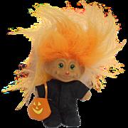 Halloween Troll Doll Black Cat