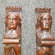 19th Century carved pillars