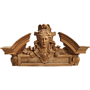 Carved Wooden Overdoor from France, circa 1850