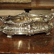 Antique Silvered Bronze Jardiniere by Victor Saglier, Circa 1880