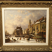 Dutch Winter Skating Scene, Theodoor Soeterik 1810-1883