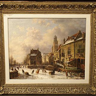 Dutch Winter Skating Scene, Theodoor Soeterik 1810-1883
