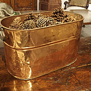 Antique Copper Planter or Storage Container, Early 1900s