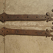 Pair of 15th Century Iron Door Straps from France