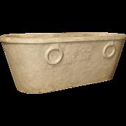 Antique Carrera Marble Bathtub from Italy, Early 1800's Genoa