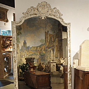 Large 19th Century Louis XV Style Painted Mirror from France