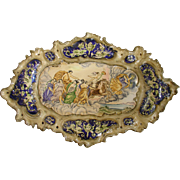 Hand Painted French Platter Depicting a Mythological Scene, 1900s