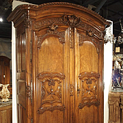 """Early 1700's French Walnut Wood Chateau Armoire, """"The Order of Saint Louis"""""""