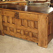 Large 17th Century Oak Chest from Spain or Southwest France