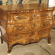 "Rare Period Louis XV Pearwood Commode ""En Tombeau"" Circa 1750"