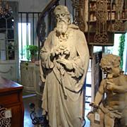 Antique Stone Statue of St. Joseph-Late 1800s