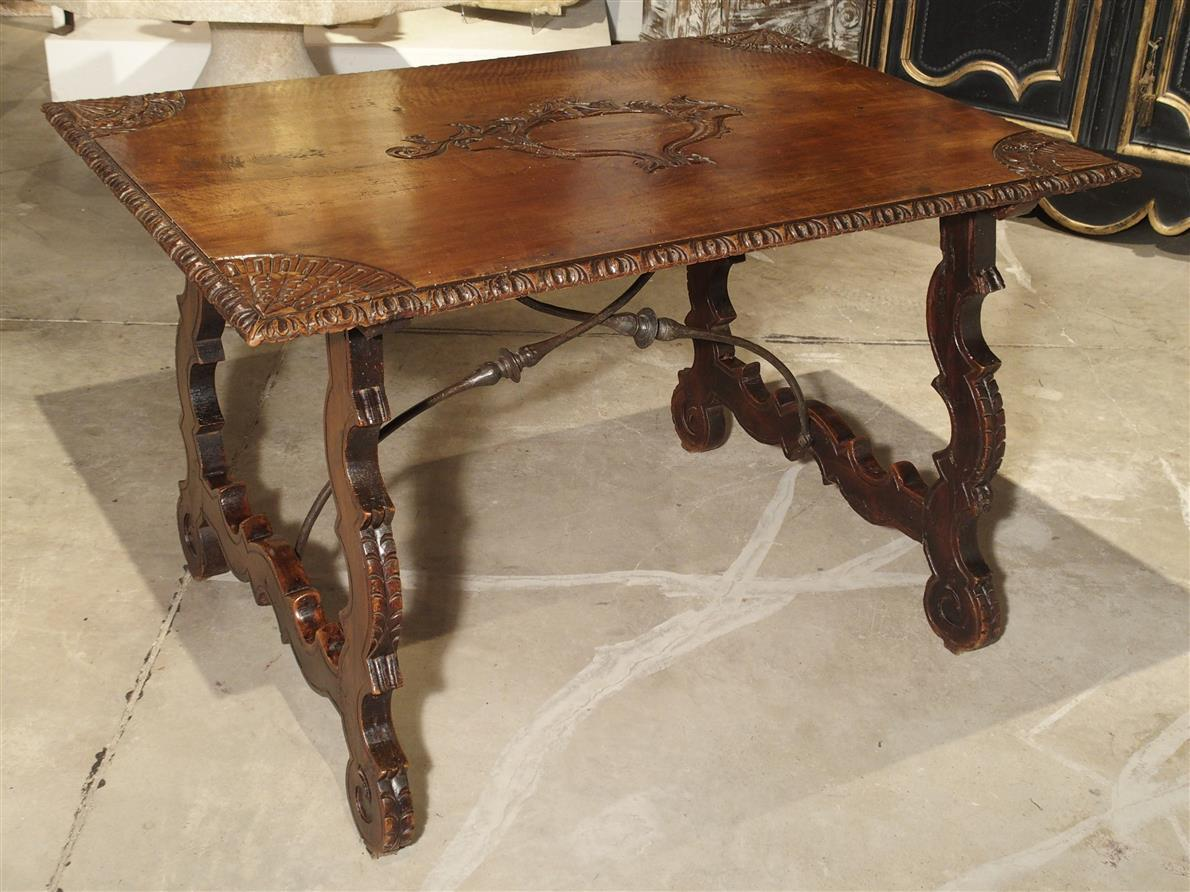 18th Century Walnut Wood Table from Spain