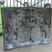 Large Bas Relief Chateau Plaque