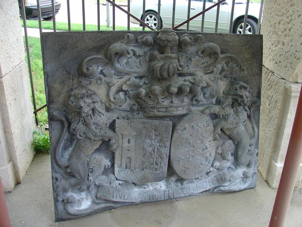 Large Bas Relief Chateau Plaque