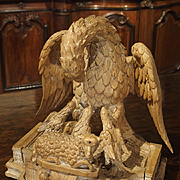 An Early 1700s Carved Limewood Statue from France