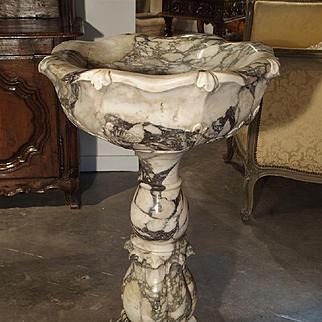 Elegant Calacatta Venato Marble Font from Italy